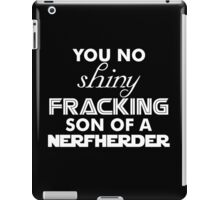 Intergalactic Trash Talk (White) iPad Case/Skin