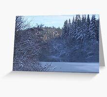 Staindale Lake in Winter Greeting Card