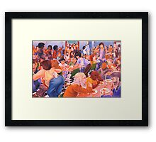 Dinner At The Salvo's Framed Print