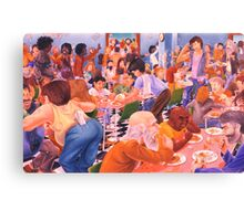 Dinner At The Salvo's Canvas Print