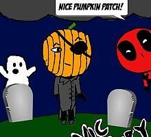 Happy Halloween! with Nic Fury & Deadpool by Eastwick