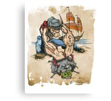Popeye and His Spinach Canvas Print