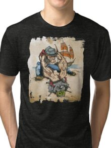 Popeye and His Spinach Tri-blend T-Shirt