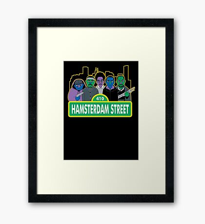 Hamsterdam Street Framed Print