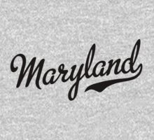 Maryland Script Black Kids Clothes