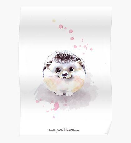 Cute Adorable Hedgehog  Poster