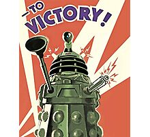 Daleks to the Victory - Doctor Who Photographic Print