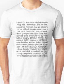 Kasabian, Serge's Word Collection Unisex T-Shirt