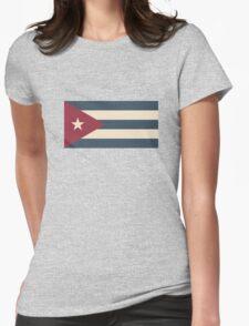 Cuban Flag Womens Fitted T-Shirt