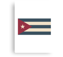 Cuban Flag Canvas Print