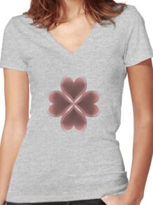 Lucky in Love Women's Fitted V-Neck T-Shirt