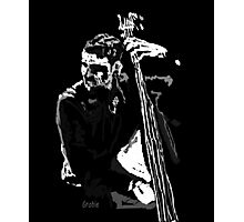 Jazz Bassist Photographic Print