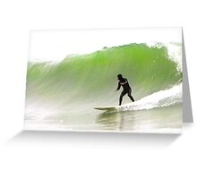 Surfin' the Big One Greeting Card