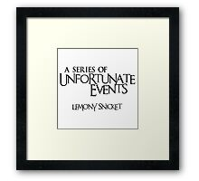 A Series of Unfortunate Events Framed Print