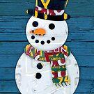 Snowman License Plate Art by designturnpike