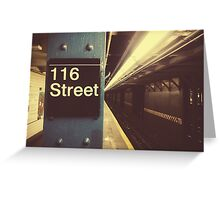 New York City Subway Greeting Card