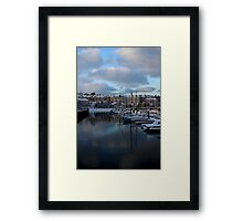 Snow Sails Here Framed Print
