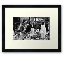 Fish stall, Rue Mouffetard, Paris Framed Print