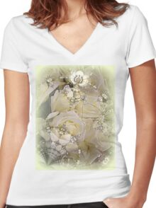 Forever Roses Women's Fitted V-Neck T-Shirt