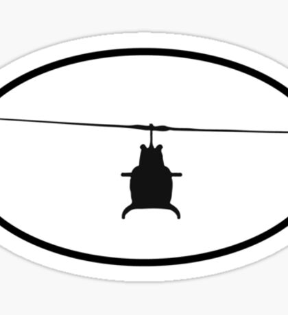 Bell 206 Jet Ranger (front) Sticker