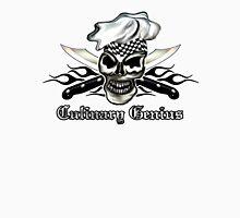 Chef Skull 8: Culinary Genius 3 black flames Unisex T-Shirt