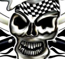 Chef Skull 8: Culinary Genius 3 black flames Sticker
