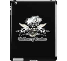 Chef Skull 8: Culinary Genius 3 white flames iPad Case/Skin