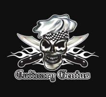 Chef Skull 8: Culinary Genius 3 white flames by sdesiata