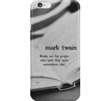 Mark Twain Books iPhone Case/Skin