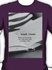 Mark Twain Books T-Shirt