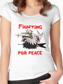 Fighting For Peace (4) Women's Fitted Scoop T-Shirt