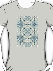 Forest Green & Neutral Taupe Detailed Lace Doodle Pattern T-Shirt