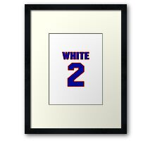 National baseball player Devon White jersey 2 Framed Print