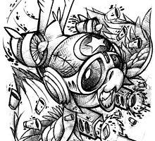 War Bird Doodle by Jeremy Harburn