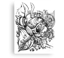 War Bird Doodle Metal Print