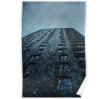 Snow series Tower Block Poster