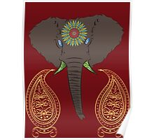 Elephant Tattoo Poster