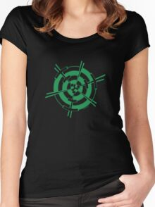 Mandala 3 Green With Envy  Women's Fitted Scoop T-Shirt