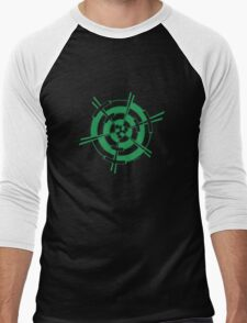 Mandala 3 Green With Envy  Men's Baseball ¾ T-Shirt