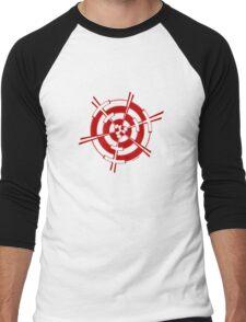 Mandala 3 Colour Me Red Men's Baseball ¾ T-Shirt