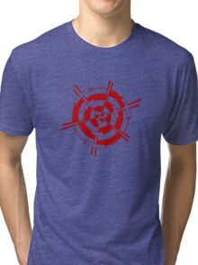 Mandala 3 Colour Me Red Tri-blend T-Shirt