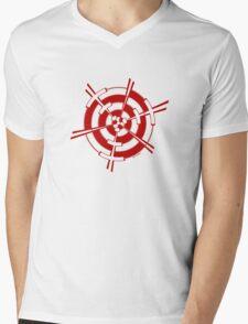 Mandala 3 Colour Me Red Mens V-Neck T-Shirt
