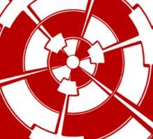 Mandala 3 Colour Me Red Sticker