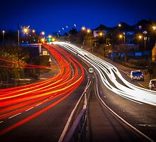 Night Trails At Rush Hour by paulmuscat