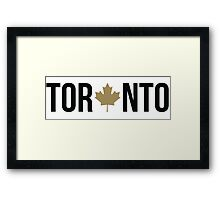 Toronto Maple | OVO Colorway Framed Print