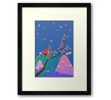 Hanami Season in Japan Framed Print