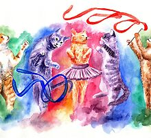 Dancing cats by AnnaShell