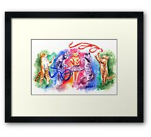 Dancing cats Framed Print