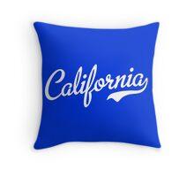 California Script White Throw Pillow