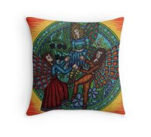 fairy circle 2, dancing fairys Throw Pillow